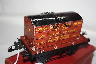o gauge hornby container and wagon  in box looks good k31201