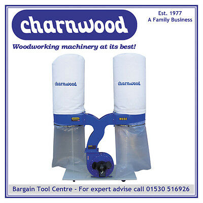 CHARNWOOD W692 Woodworking Dust & Chip Extractor, 2200w, 3hp Motor