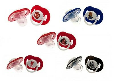 Official Football Club Baby DUMMIES (Soothers/Pacifiers) 2 Pack - Ages 3 Months+
