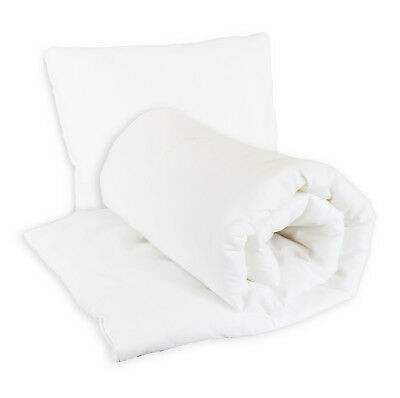 PILLOW + QUILT / DUVET Baby Filling Nursery Baby Bedding Set to Fit Cot/CotBed
