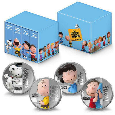 "2015 Niue 4-Coin Silver ""The Peanuts Movie"" Set - SKU #93707"