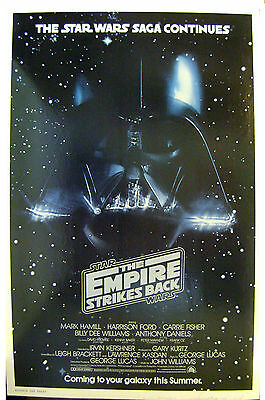 THE EMPIRE STRIKES BACK  ORIGINAL 1980 ADVANCE ONE SHEET  Museum dry mounted