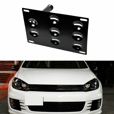 Bumper Tow Hook License Plate Mounting Bracket For Volkswagen Audi
