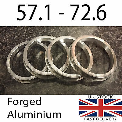 Metal Alloy Wheel Hub Centric Spacer Spigot Rings 72.6 - 57.1 Set of 4 VW Audi