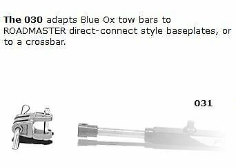 Roadmaster 031 Tow Bar to Blue Ox Brackets Adapter