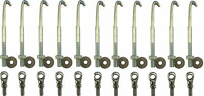 Dhol Hooks with Sockets and Nuts 11 Cms long hooks Set of 11