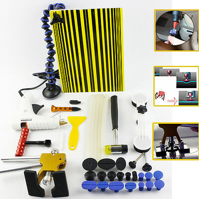 PDR Kit-Paintless Dent Puller Lifter Removal Hail Line Board Repair Hammer Tools