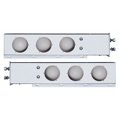 2 Stainless Steel Mud Flap Hanger with Light Cutouts Spring Loaded 2 1/2 Pattern