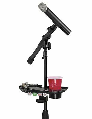 Gator - Microphone Stand Accessory Tray with Drink Holder