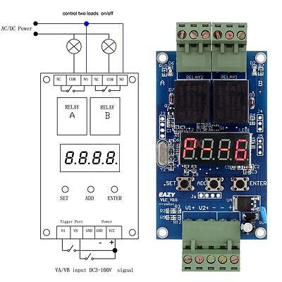 DC 12V Dual Programmable Relay Cycle Delay Timer Timing Clock Switch Module Z1BS