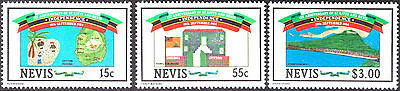 Selection Of 1984 1St Anniversary Of Independence Nevis Postage Stamps