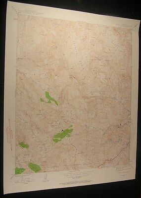 Inspiration Arizona Tonto Nat. Forest 1958 vintage USGS original Topo chart map
