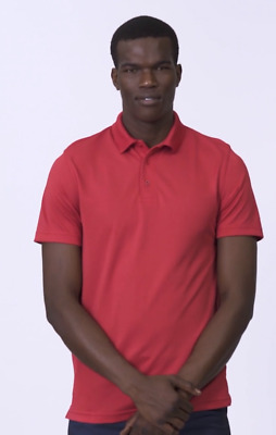Uneek Mens Super Cool Workwear Polo Shirt 100% Breathable Sports Style (UC127)