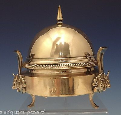 "Gorham Silverplate Butter Dome with 3-D Bulls 6 1/2"" Circa 1880'S (#0627)"