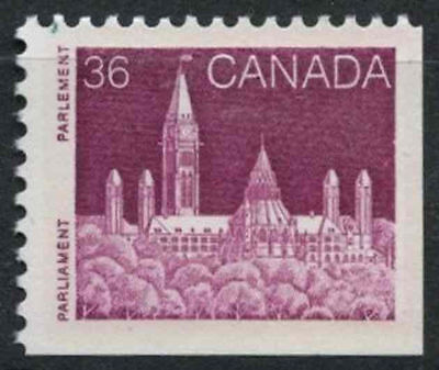 Canada 1985-98 SG#1152, 36c Parliament Def. Ord Paper Imperf Bottom Right #D7094