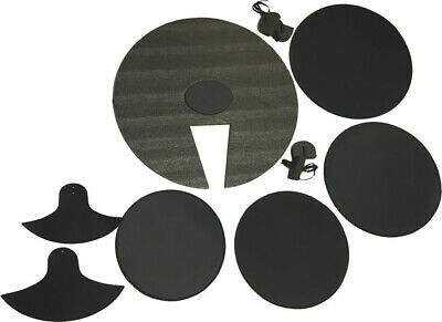 7 Piece Drum Set Mute Pack Practice Pad Silencer Set Drums Cymbals Fusion Sizes