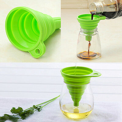 Silicone Folding Funnel Collapsible Style Funnel Hopper Kitchen Fold Oil Water