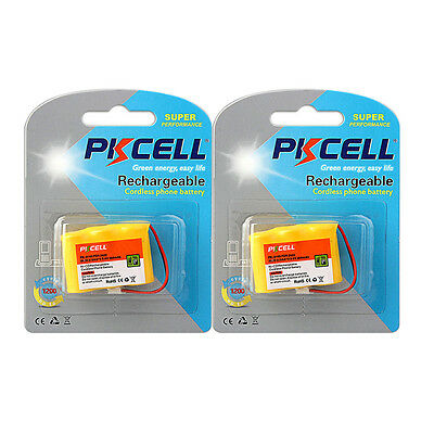 2X Cordless Phone Battery Replacement NICD 2/3AA*3 450mAh 3.6V for ATT AT&T 2422