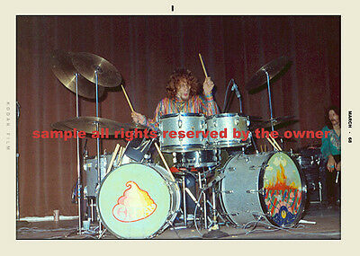GINGER BAKER WITH CLAPTON  CREAM  REPRO SNAPSHOT 1968 2 MEMBERS  5 x 7