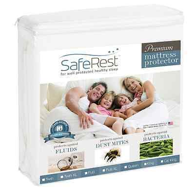Twin Size Premium Cover Waterproof Mattress Pad Protector Bed Vinyl Safe Wetting