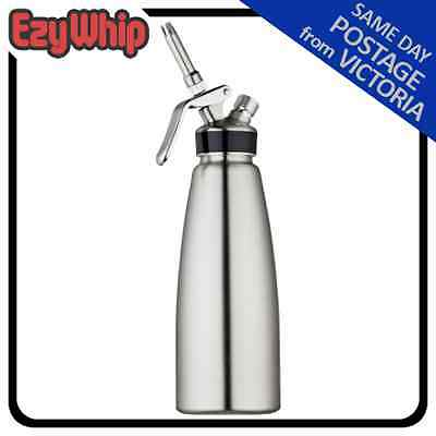 Mosa Stainless Steel Cream Whipper 1.0L Nitrous Oxide Charger Bulb