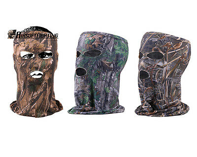 Hunting Fishing CS Camouflage Headsacarf Headgear Camo Full Face Mask 3 Holes