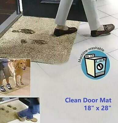 Super Clean Step Mat Absorbent Microfibre Doormat Absorbs Mud & Water like Magic