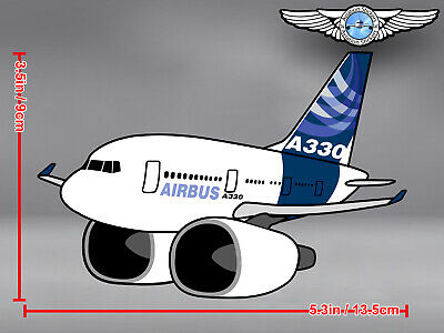 PUDGY STYLE DIECUT AIRBUS A330 A 330 DECAL / STICKER 5.3 x 3.5 in / 13.5 x 9 cm