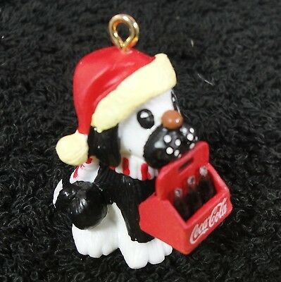 Cavanagh Ornament - 1997 Coca Cola - Puppy with 6-Pack - Miniature - New !!