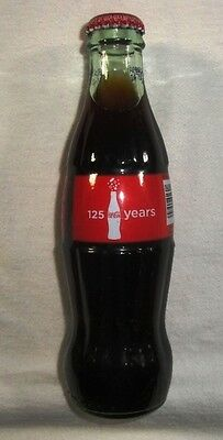 Coca Cola Bottle - 2011 Anniversary Bottle 125 Years - Unopened & Full