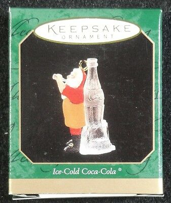 Hallmark Ornament - 1997 - Ice Cold Coca Cola - Mini - New in Box !!