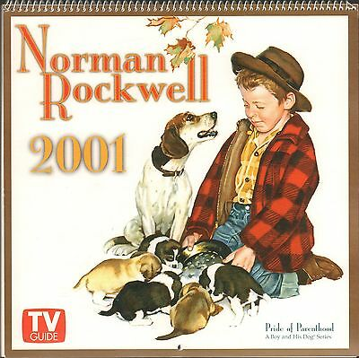 Norman Rockwell 2001 TV Guide Wall Calendar - New !!