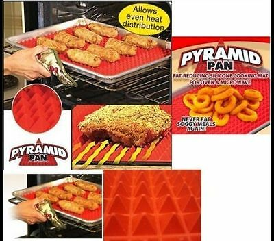 Non-stick Silicone Pyramid Pan Baking Mat Mould Cooking Sheet Oven Liner Tray HK