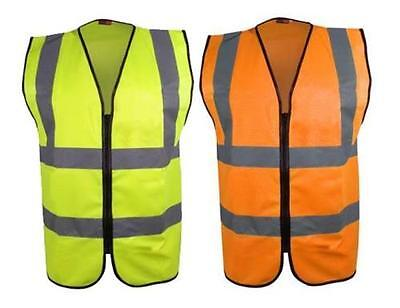 Blackrock ZIPPED Executive Hi Vis Vest High Viz Waistcoat Yellow / Orange BHZEV