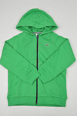 Sale Brand New Lacoste Nwd Kids Green Full Zip Hoodie Size: 8 Years