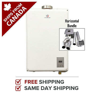 "Tankless Water Heater Eccotemp 45HI-NG Natural Gas w/ 4"" Horizontal Vent Kit"