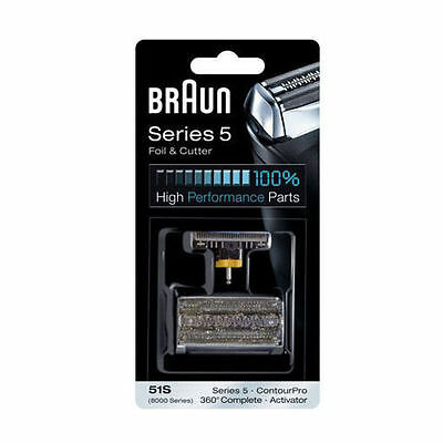 Foil Cutter Braun 51S Series5 Shaver Blade 360°Complete 8000 Activator BEE