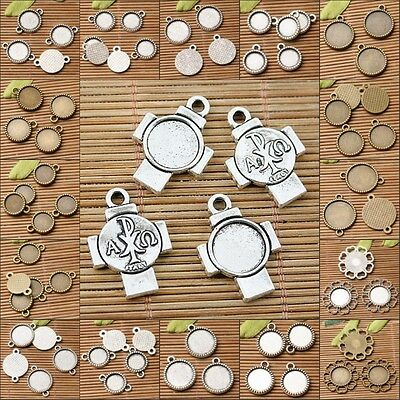 Multi-styles round cabochon setting design in 10mm /12mm/14mm to Pick
