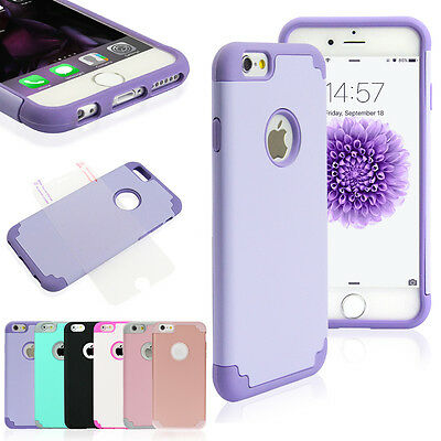 """Shockproof Rugged Hybrid Rubber Hard Cover Case for iPhone 7 Plus 5.5""""/ 7 4.7"""""""