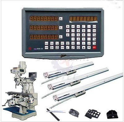 complete milling lathe drill machine dro digital readout with 3pcs linear scales