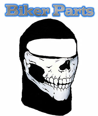 Skull Balaclava face mask black motorcycle ski cycling thermal neck warmer bike
