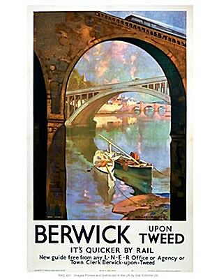 Berwick Upon Tweed Fridge Magnet  (se)