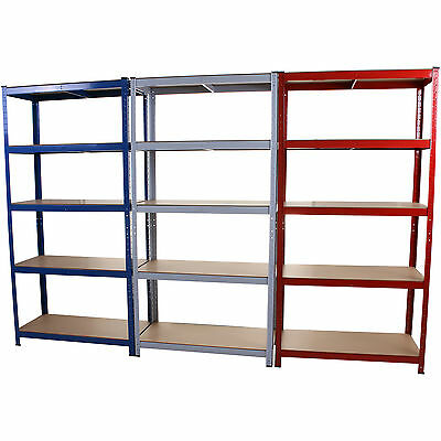 5 Tier Boltless Industrial Racking Garage Shelving Storage Heavy Duty Shelf Bay
