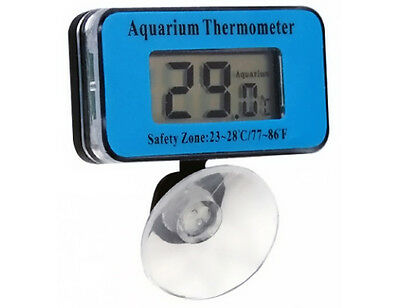 Digital submersible aquarium thermometer with suction waterproof water pool