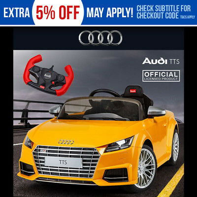 Electric Ride On Car Licensed Audi TTS Kids Roadster - Battery Toy Electric 12v