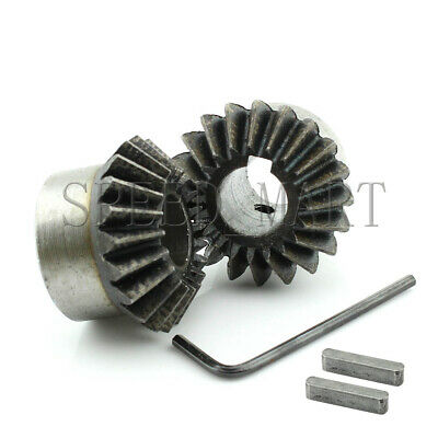 2X 2M-20T Metal Umbrella Tooth Bevel Gear Helical Motor Gear 20 Tooth 15mm Bore