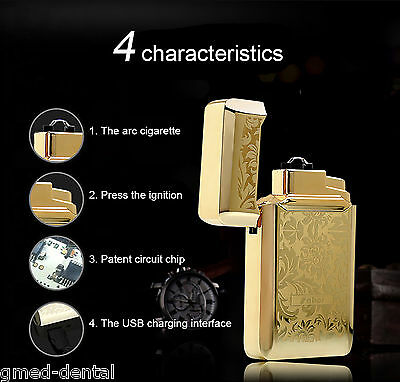 Windproof USB Rechargeable Electric Arc Cigarette Lighter Creative