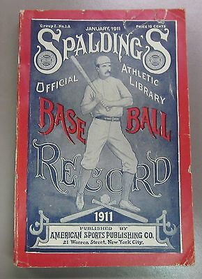 1911 Spalding's Official Baseball Record Book Guide