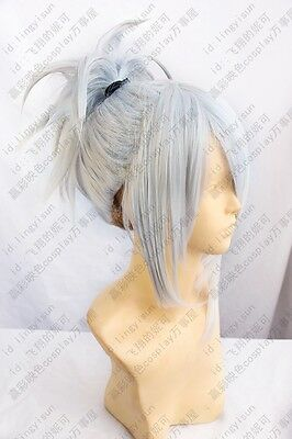 189 Final Fantasy Type-0 sice grey mix Cosplay Costume Wig free shipping