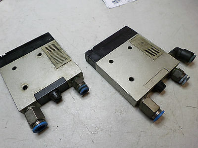 SMC PNUEMATICS -- ZM SERIES VACUUM EJECTORS - Lot of 2 - PILOT OPERATED